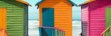 Awesome South Africa Collection Panoramic - Colorful Huts on the Beach IV Photographic Print by Philippe Hugonnard
