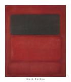 Black over Reds [Black on Red], 1957 Pôsters por Mark Rothko