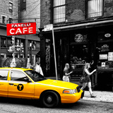 Safari CityPop Collection - New York Yellow Cab in Soho V Photographic Print by Philippe Hugonnard
