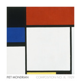 Composition No. III / Fox Trot B with Black, Red, Blue and Yellow, 1929 Poster por Piet Mondrian