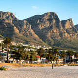 Awesome South Africa Collection Square - Twelve Apostles Moutains at Sunset - Cape Town III Photographic Print by Philippe Hugonnard