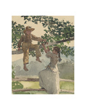 On the Fence, 1878 Print by Winslow Homer