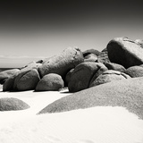 Awesome South Africa Collection Square - Boulders White Beach B&W II Photographic Print by Philippe Hugonnard