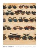 Wayne Thiebaud - Five Rows of Sunglasses, 2000 - Art Print