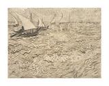 Boats at Saintes-Maries, 1888 Posters by Vincent van Gogh