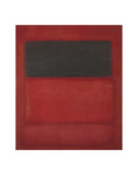 Black over Reds [Black on Red], 1957 Art by Mark Rothko