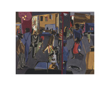 Fulton and Nostrand, 1958 Prints by Jacob Lawrence