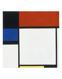 Composition No. III / Fox Trot B with Black, Red, Blue and Yellow, 1929 Affiches par Piet Mondrian