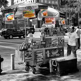 Safari CityPop Collection - NYC Hot Dog with Zebra Man II Photographic Print by Philippe Hugonnard