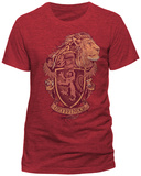 Harry Potter- Gryffindor Coat Of Arms (Slim Fit) - Tişört