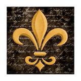Scripted Gold Fleur De Lis I Poster by Vivien Rhyan