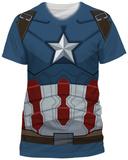 Captain America: Civil War- Cap Costume Tee (Slim Fit) T-Shirts