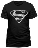 Superman- Distressed Chalk Logo (Slim Fit) T-Shirts