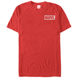 Marvel- White Pocket Logo T-shirts