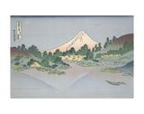 Reflection of Fuji in Lake Misaka in Kai Province, 1831 Poster von Katsushika Hokusai