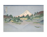 Katsushika Hokusai - Reflection of Fuji in Lake Misaka in Kai Province, 1831 - Poster