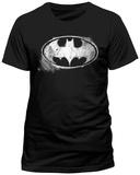 Batman- Distressed Chalk Logo (Slim Fit) T-Shirts