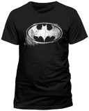Batman- Distressed Chalk Logo Maglietta