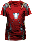 Captain America: Civil War- Iron Man Costume (Slim Fit) T-Shirts