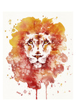Pride (Watercolor Lion) Poster by  Sillier than Sally