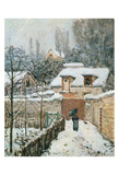 Snow at Louveciennes, 1874 Kunstdruck von Alfred Sisley