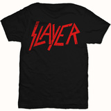 Slayer- Slayer Distressed Red Logo T-shirts