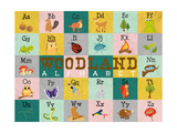 Woodland Alphabet (Horizontal) Prints by  Josefina
