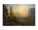 Yosemite Valley, Glacier Point Trail, ca. 1873 Posters af Albert Bierstadt