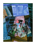 Still Life before an Open Window, Place Ravignan, 1915 Prints by Juan Gris