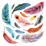 Falling Feathers I Posters by Margaret Berg