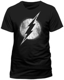 The Flash- Distressed Chalk Logo (Slim Fit) Shirts