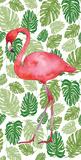 Tropical Flamingo II Poster af Wild Apple Portfolio
