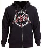 Zip Hoodie: Slayer- Logo Pentagram Zip Hoodie