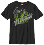 Youth: Black Panther- Streaking Logo T-shirts
