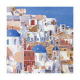 Santorini Watercolor II Posters by Edie Fagan