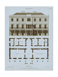 Chambray House & Plan II Poster by Thomas Kelly