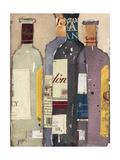 Red Wine Tasting I Reproduction giclée Premium par Samuel Dixon