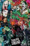 Suicide Squad- Crazy Collage Pôster
