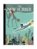 The New Yorker Cover - August 1, 2016 Regular Giclee Print von Frank Viva