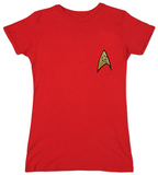 Juniors: Star Trek- Ops Red Shirt T-paita