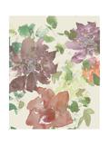 Fuchsia Inked Blooms II Print by  Studio W