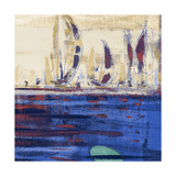 Blue Calm Waters Square II Poster by  Kingsley