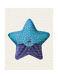 Starfish in Shades of Blue a Posters by Fab Funky