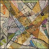 Modern Map of D.C. Print by Nikki Galapon