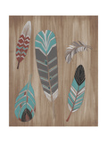 Driftwood Feathers I Print by June Vess
