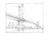 Suspension Bridge Study III Stretched Canvas Print by Ethan Harper