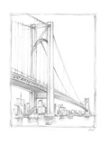 Suspension Bridge Study I Stretched Canvas Print by Ethan Harper