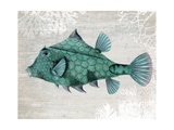 Turquoise Turret Fish Posters by Fab Funky