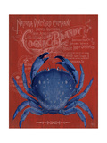 Crab Prohibition Crab On Red Prints by Fab Funky