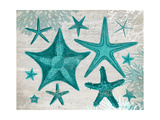 Green Starfish Collection Print by Fab Funky